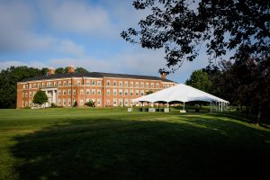 tent set up outside of Farrell Hall