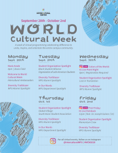 World Cultural Week activities
