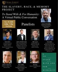 Slavery, Race, and Memory Project webinar