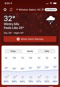 hourly forecast 2 18 21