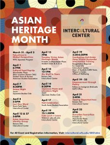 Asian Heritage Month 2021 events calendar