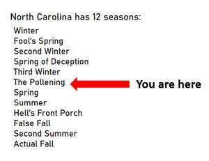 "The Twelve Seasons of NC - ""The Pollening"""