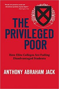 """Cover for the book """"The Privileged Poor"""" by Anthony Abraham Jack"""