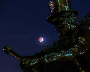 A total eclipse of the moon was visible from BB&T Field on Wednesday, October 8, 2014.