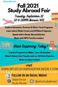 Fall 2021 study abroad fair poster