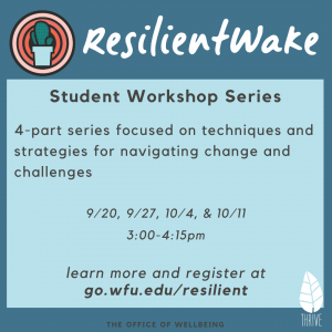 Resilient Wake Fall 2021 workshop series poster
