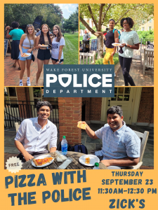Pizza with the Police poster