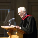 Ed Christman delivers the prayer at Opening Convocation in 2002.