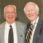 Ed Wilson ('43) and Ed Christman, who met when both were students in the 1940s, at a reunion on the Old Campus in 2006.