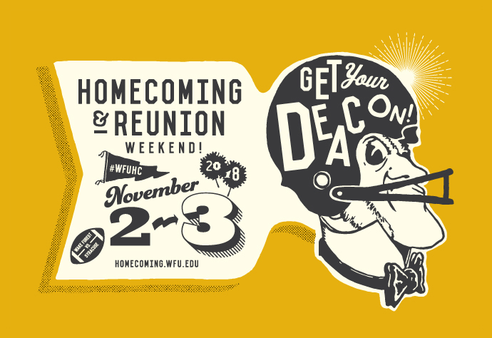 View the Homecoming & Reunion Weekend 2018 Brochure online!