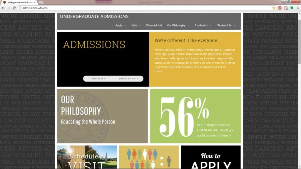 Final WFU Admissions Screenshot 2