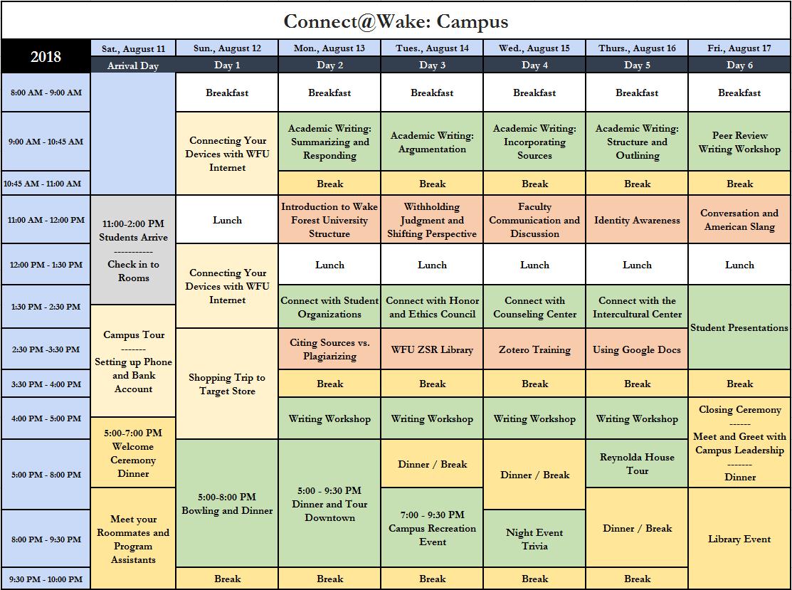 2018 CWC schedule