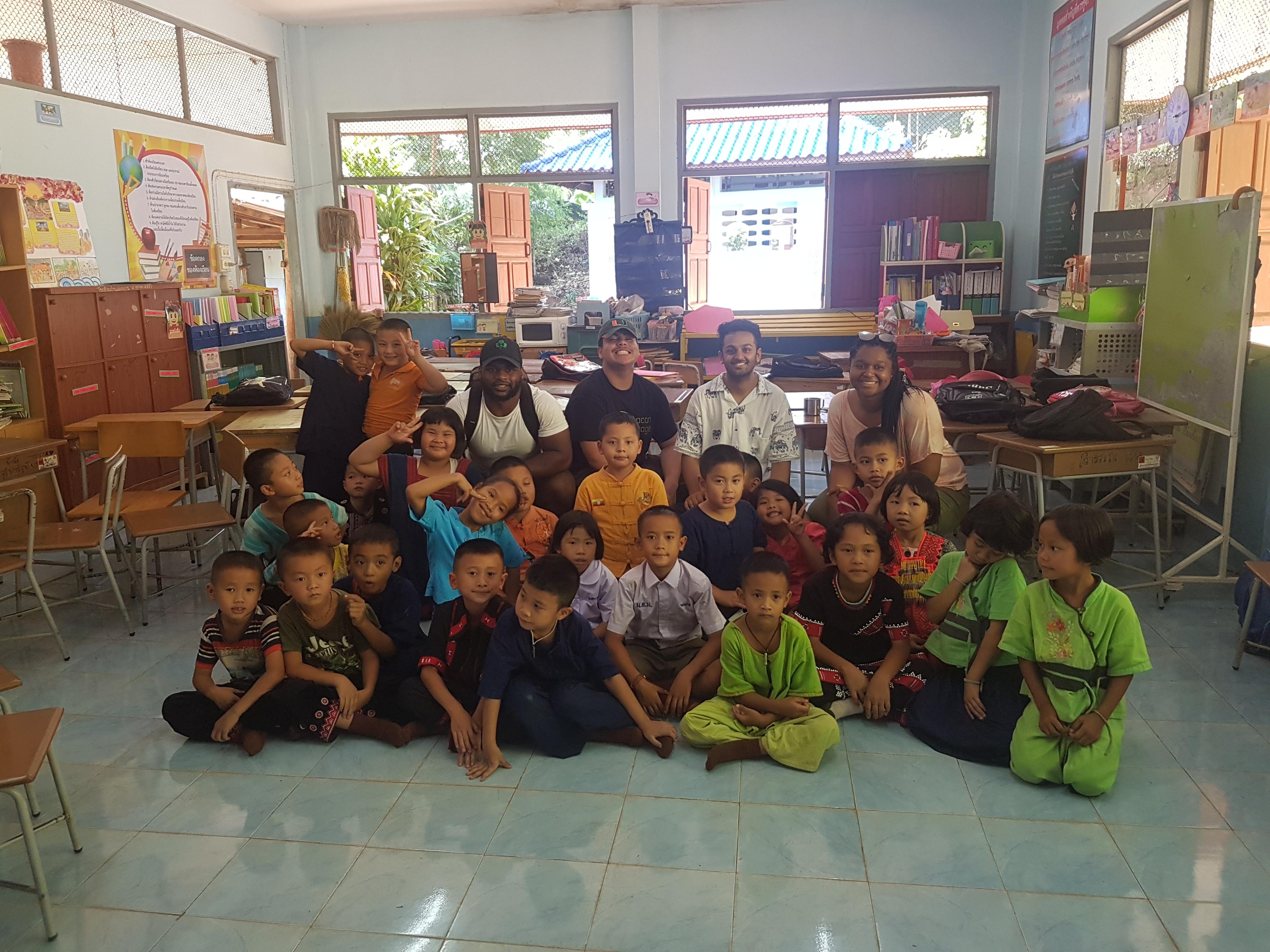 International service school children