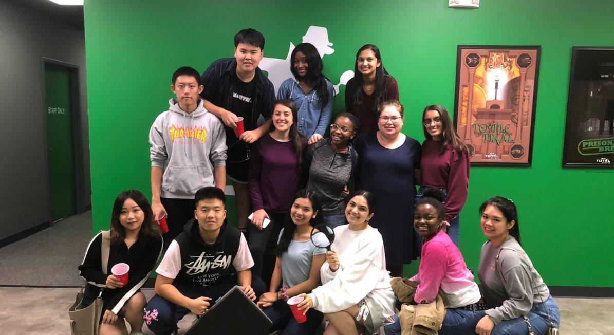 Global Village Students at Escape Room