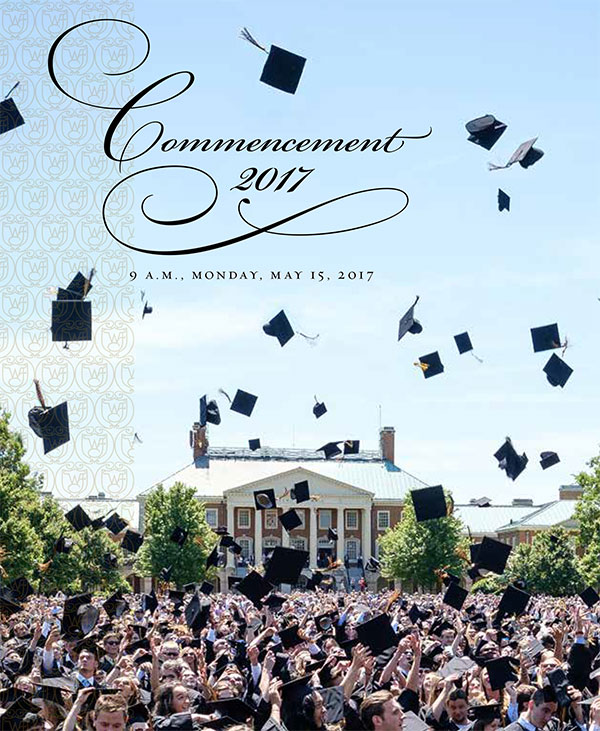 Download the 2017 Commencement Booklet »