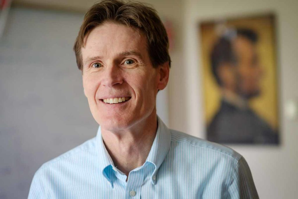 Wake Forest professor of physics Keith Bonin