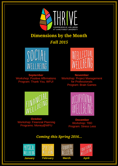 Dimensions by Month Fall 2015 Calendar