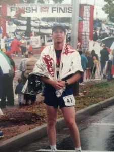 Max Floyd at Finish Line
