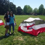 Students By Red Tent