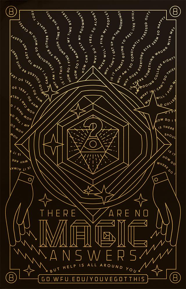 No Magic Answers Eye Poster Image