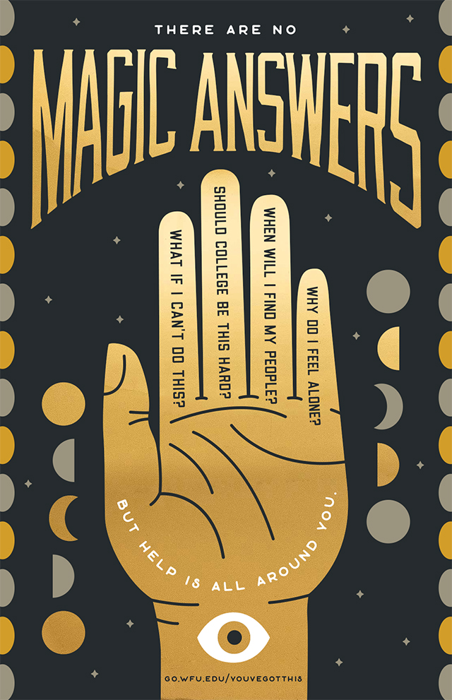 No Magic Answers Palm Poster Image