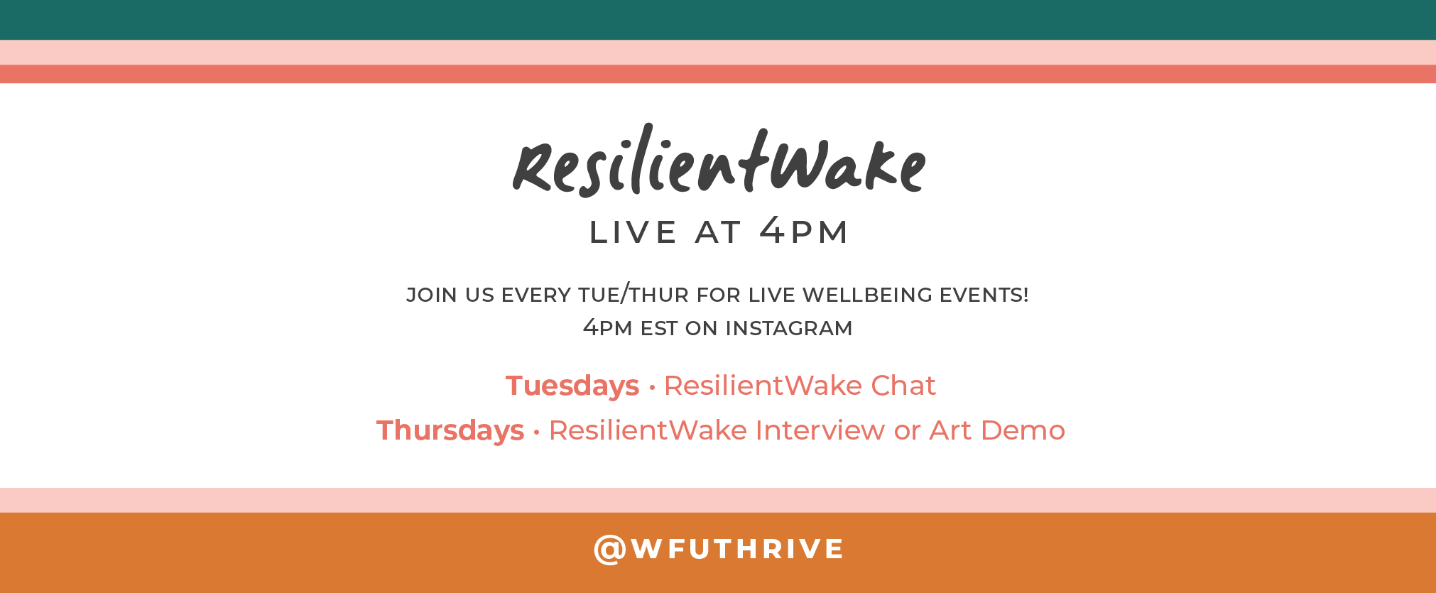 Join us live on Instagram every tuesday/thursday at 4pm EST @wfuthive