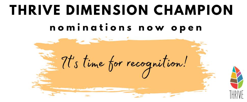 White Thrive Dimension Champion awards