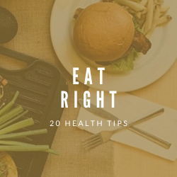 "Image of fork and knife with title ""Eat Right"""