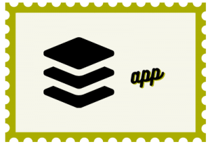 """Illustration of stamp with title """"App"""""""