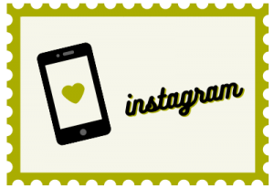 """Illustration of stamp with title """"Instagram"""""""