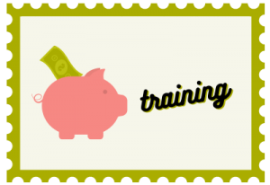 """Illustration of stamp with title """"Training"""""""