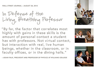 In defense of the living, breathing professor