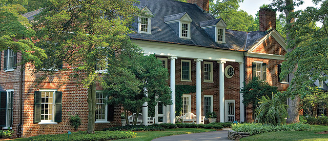 The President's Home of Wake Forest University was built in 1929 for Ralph and Dewitt Hanes and was donated to the University in 1988.