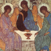 Image of The Trinity or The Hospitality of Abraham