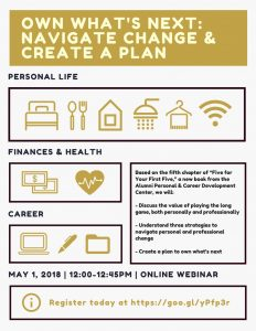 Own What's Next WebEx - May 1 at 12 noon
