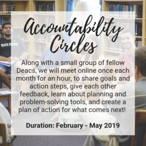 Accountability Circles advertisement