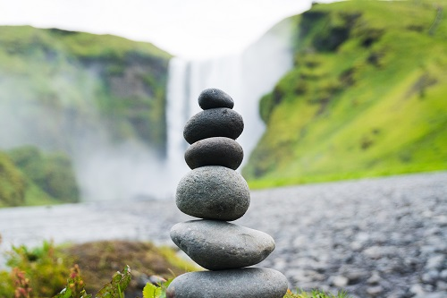 Rocks balancing on top of each other