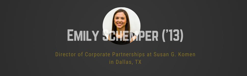 Photo of Emily Schemper, Director of Corporate partnerships at Susan G Komen