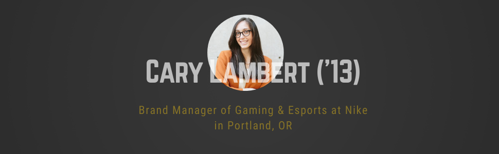 headshot of Cary Lambert ('13) brand manage of gaming and esports at nike