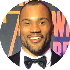Headshot of Brandon Chubb, He is wearing a tux, and smiling