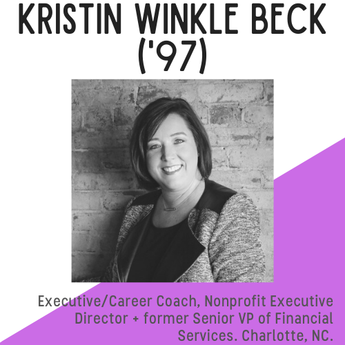 Headshot of Kristin WInkle Beck, alumna who is smiling .