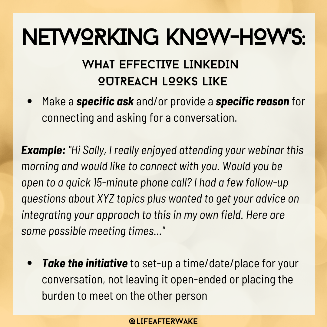 Networking Know-How's: What Effective LinkedIn Outreach Looks Like