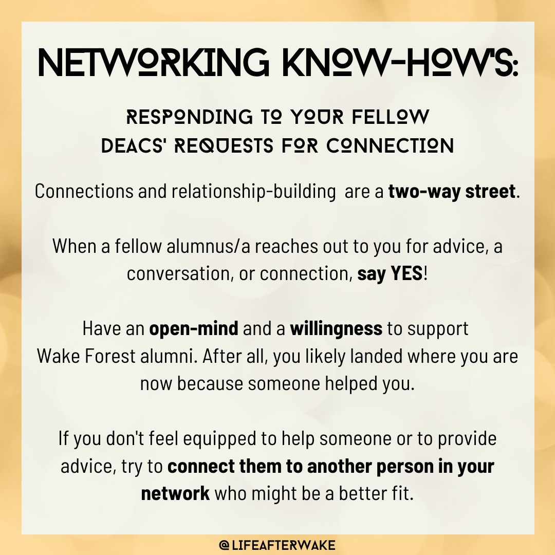 Networking Know-How's: Responding to Your Fellow Deacs' Requests for Connection