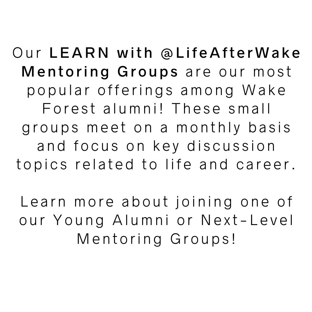 Description of alumni mentoring groups