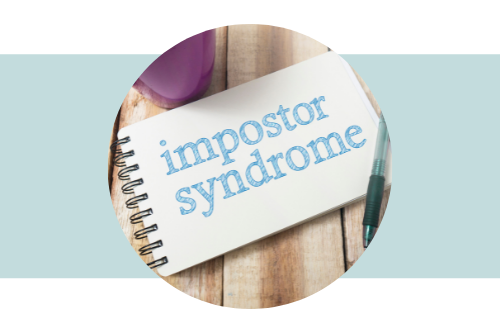 """Note pad with the words """"Impostor Syndrome"""" written on it"""