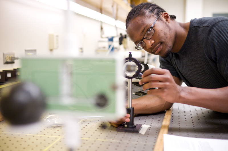 Physics Major Brandon Turner ('12), Electronics Lab in Olin Hall