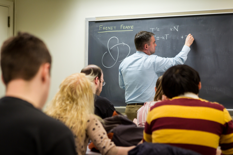 Mathematics Professor Jason Parsley, Geometry Class, Manchester Hall
