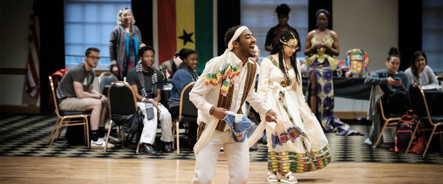 Wake Forest students hold the annual Africasa event to celebrate African and Caribbean culture, in the Benson Center