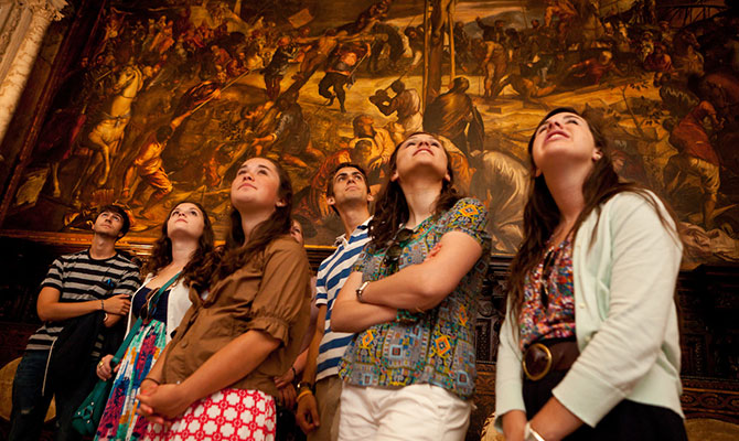 The Wake Forest residential study abroad program at Casa Artom, in Venice, Italy,