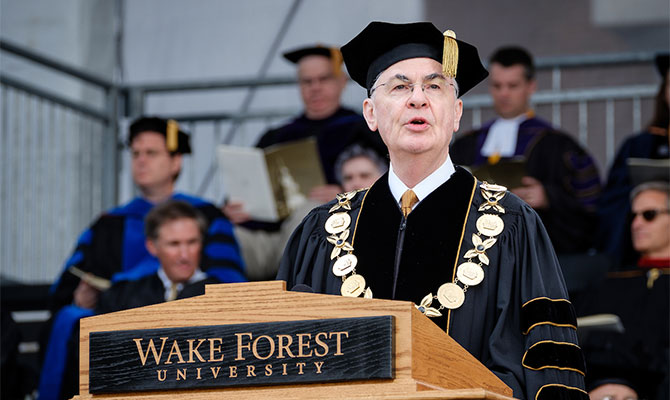 Wake Forest University President Dr. Nathan O. Hatch